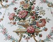 Vintage 1991 Greeff Fabrics Floral Urn Chintz Fabric, Vintage 1990s Floral Chintz, Vintage Flowers and Bows Chintz, Grandmillennial Fabric