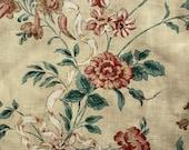 "Vintage 1980s ""Eastleigh"" Floral Polished Cotton Fabric BTY, Eastleigh by Concord Fabrics Floral Polished Cotton Fabric BTY"