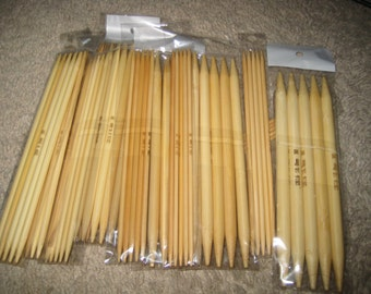 "15 7/"" inch Bamboo Knitting Needles Double pointed needle set  DPN DP US 11 13"