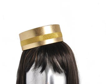 Pillbox Hat in GOLD -  Classic Cigarette Girl or Usher or Bellhop with your choice of trim