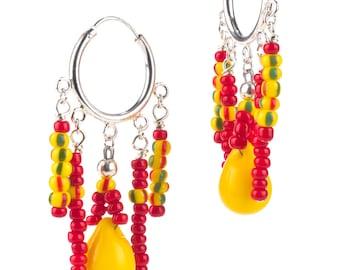 Red and Yellow Fulani Wedding Hoops