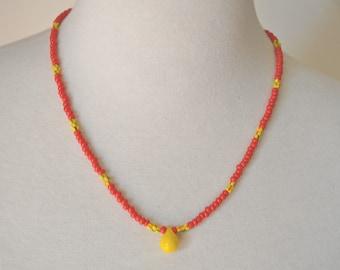 Simple Sun Trade Bead Necklace