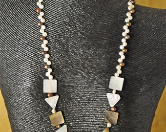 Mother of Pearl Love Necklace