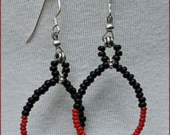 Black Fire Earrings