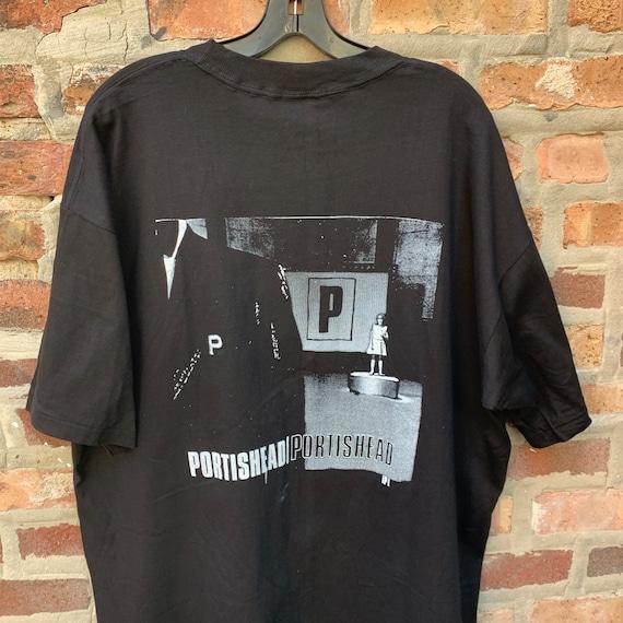 Vintage 90s PORTISHEAD Band T-shirt Size XL Parki… - image 4