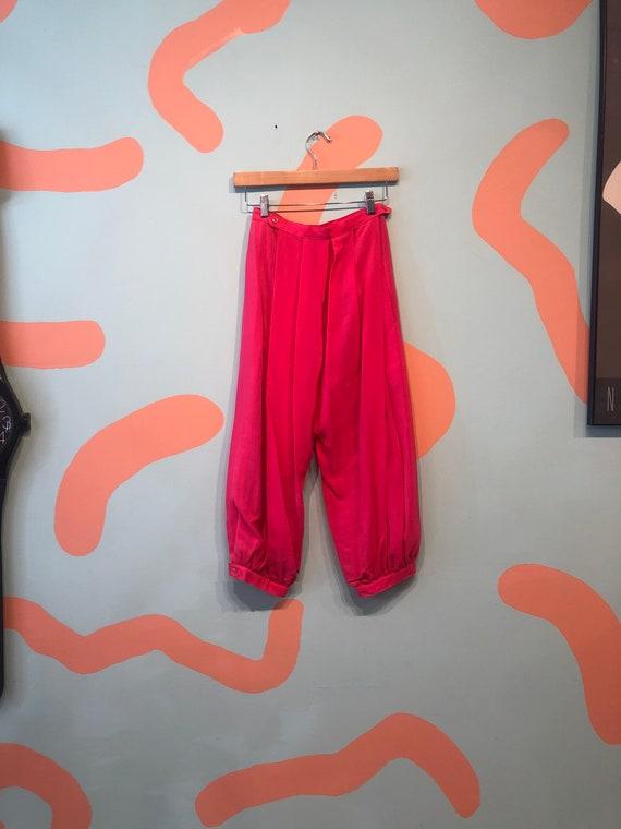 Vintage 80s Pink Silk Jodhpur Harem Pants - image 4