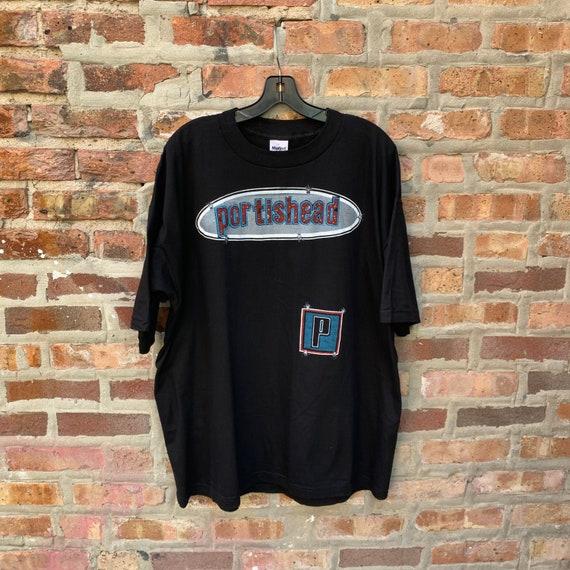 Vintage 90s PORTISHEAD Band T-shirt Size XL Parkin