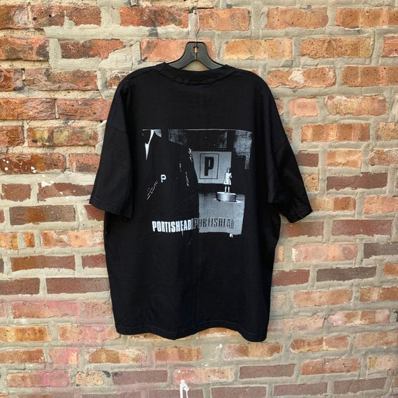 Vintage 90s PORTISHEAD Band T-shirt Size XL Parki… - image 3