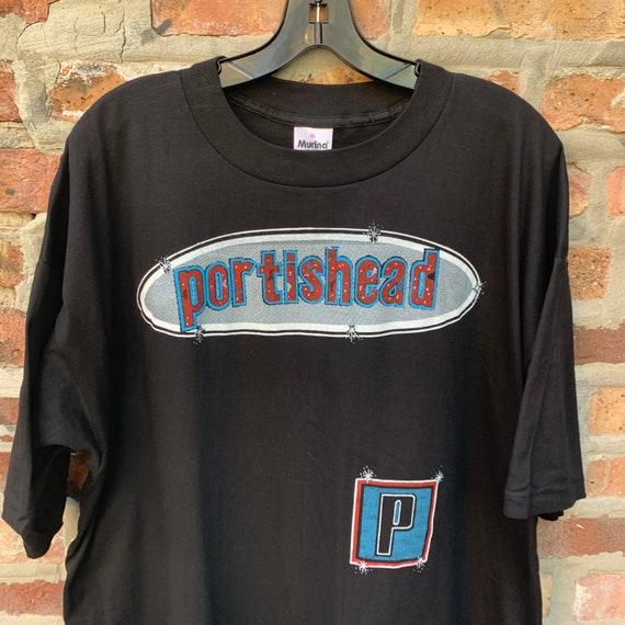 Vintage 90s PORTISHEAD Band T-shirt Size XL Parki… - image 2
