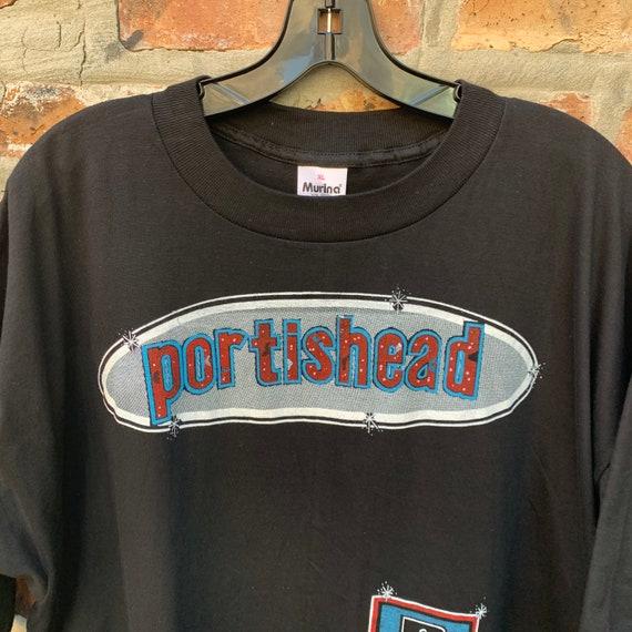Vintage 90s PORTISHEAD Band T-shirt Size XL Parki… - image 8