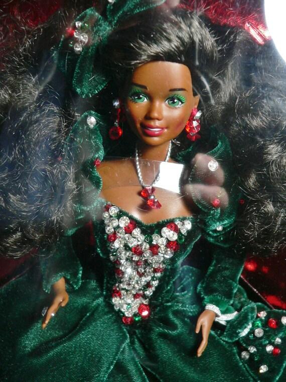 NIB Mattel Barbie Doll 1991 Happy Holidays African