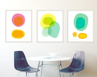 Set of 3 Prints, Abstract Art Prints, Modern Art Prints, Contemporary Wall Art, Art Print Set