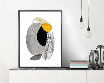 Large Abstract Art, Large Wall Print, Black and White Art, Large Wall Art