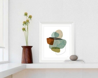 Mid Century Modern Art Print, Contemporary Art, Abstract Giclee, Wall Art, Large Art Prints Available