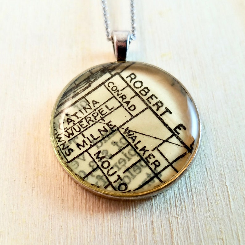 Robert E Lee Map Necklace