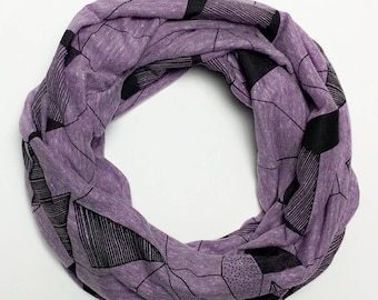Geometric Infinity Scarf (Eco Purple)