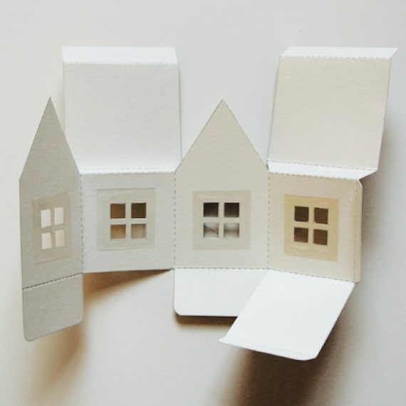 Paper House Luminaries Printable Template Graphics And Instructions