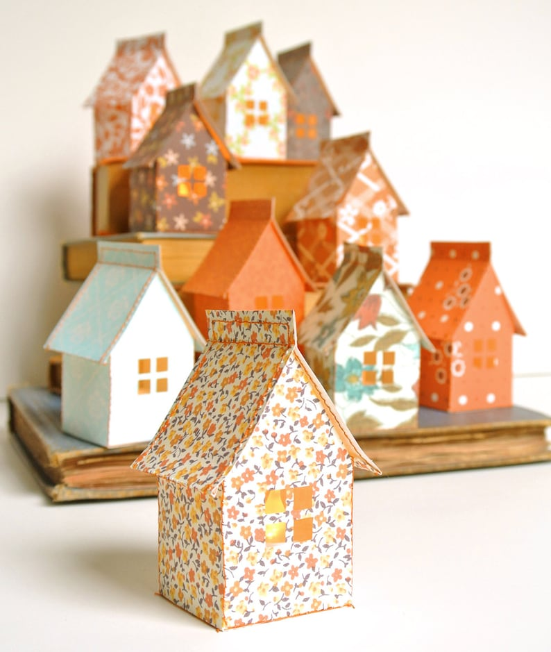 Stitch & Fold Paper House Luminary Kit image 0