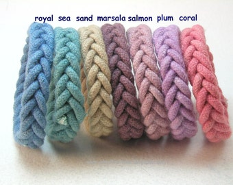 slender rope bracelets knot bracelets herringbone weave wristbands made from hand dyed cotton cord 3499