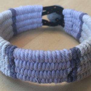 cool grey blue hand loomed cuff bracelet 4297