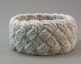 soft cord white turks head bracelet hand knotted rope bracelet 4101