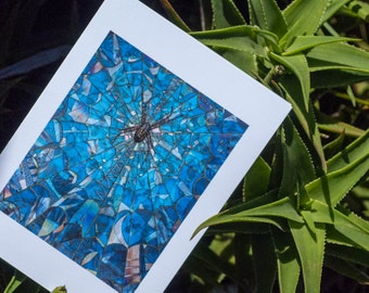 Blank Greeting Card - The Guardian spider mosaic