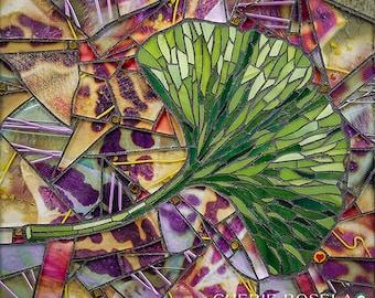 Ginkgo leaf Mosaic 8x10 - Matted Giclée Fine Art Print
