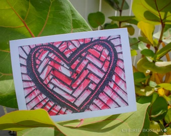 Blank Greeting Card - Rosy Love