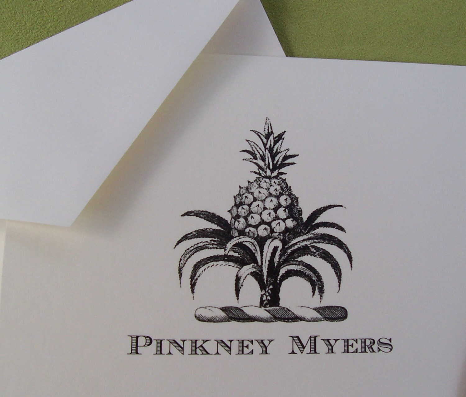 Pineapple Notecards Personalized Symbol Of Hospitality Welcome Etsy
