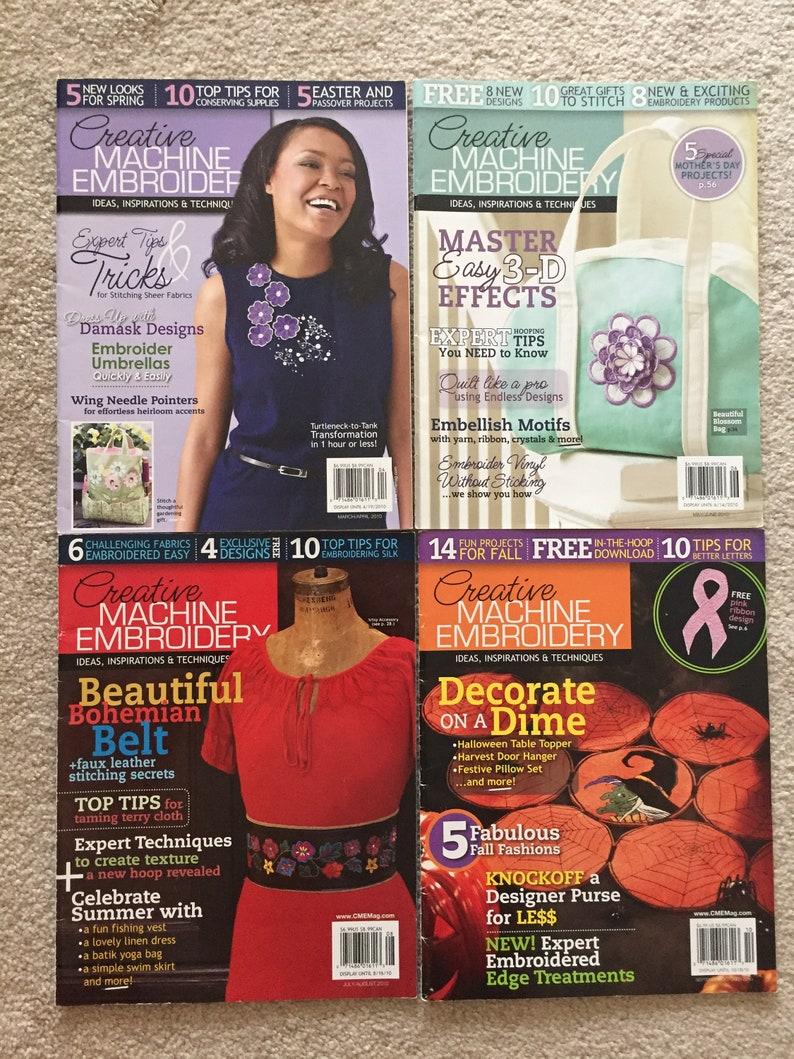 Creative Machine Embroidery Magazines