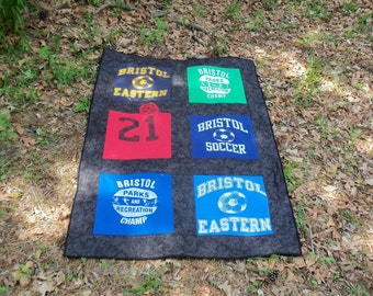Custom Memory 6 Tee Shirt Lap Quilt with your own Tshirts