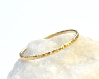 Gold Shimmer Stacking Ring