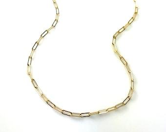 Gold Small Paper Clip Chain
