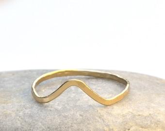 Gold V Stacking Ring