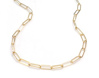 Gold Large Paper Clip Chain