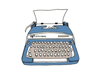 Smith Corona Typewriter Illustration print