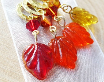 SALE - Autumn's Bliss - Four Snag Free Stitch Markers - Fits Up To 6.5 mm (10.5 US) - Last Sets