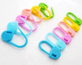 Candy Girl - Twelve (12) Removable Locking Stitch Markers - Twitches For Your Stitches - 6.0 mm (J) (US 10)  - Open Edition