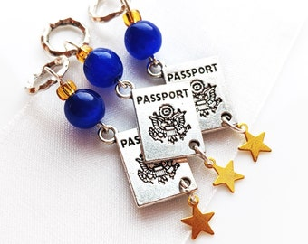 Your Passport's Ready - Handmade Stitch Marker - World Travellers Series - 6.0mm (10 US) - Limited Edition - New
