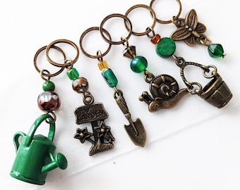 In My Garden - Stitch Markers for Knitting or Crocheting - Fits Up To 9.0mm (13 US) - Limited Edition