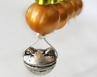 SALE - The Frog Prince - Fairy Tale Series - Five Snag Free Stitch Markers - Fits Up To 5.5mm (9 US) - Limited Edition