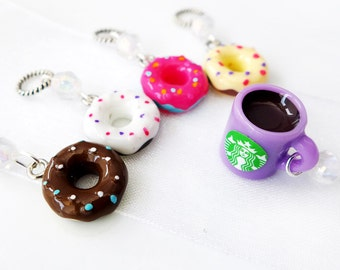 The Doughnut Shop - Five Handmade Stitch Markers - Fits Up To 4.5mm (8 US) - Last Sets