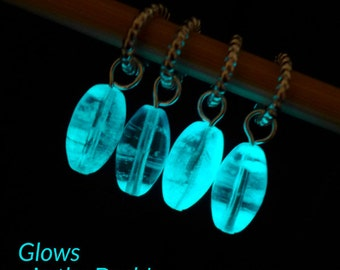 Marie Curie - Inspiring Women Series - Four Glow in the Dark Stitch Markers with Test Tube - Fits 5.5mm (9 US) - Open Edition