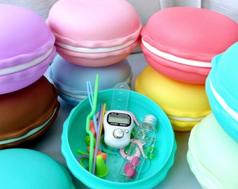 French Macaron Notions Kit - Cute Kawaii Supplies for Knitters and Crocheters - Eight Colors Available!