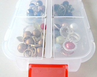 Snap 'n Go Notions Case - On-The-Go Storage Accessory for Knitters and Crocheters - Cherry Red