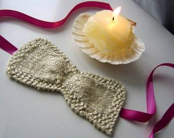 Ruched Eye Sleep Mask - Free Knitting Pattern - Digital PDF or PRINT