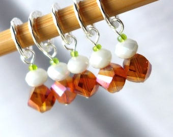 River Song - Doctor Who Companions Series - Five Handmade Stitch Markers - Fits Up To 10.5mm (10.5 US) - Last Sets