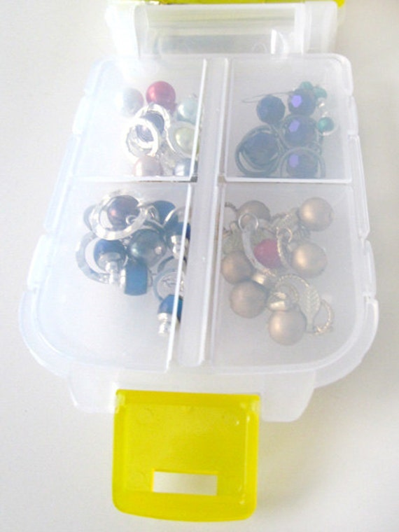 Snap 'n Go Notions Case - On-The-Go Storage Accessory for Knitters and Crocheters - Lemon Yellow