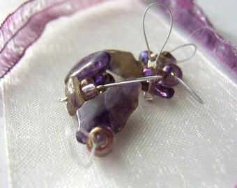 SALE - Purple Mountain Majesties - 6 Snag Free Knitting Stitch Markers - Fits Up To 4.25mm (6 US) - Last Set
