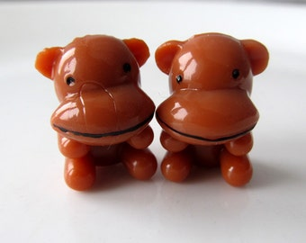 LAST SET - Barrel of Monkeys - Needle Buddies - Small Sock Size Double Pointed Needle DPN Holders